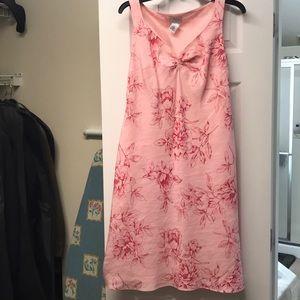 Beautiful linen blend rose dress